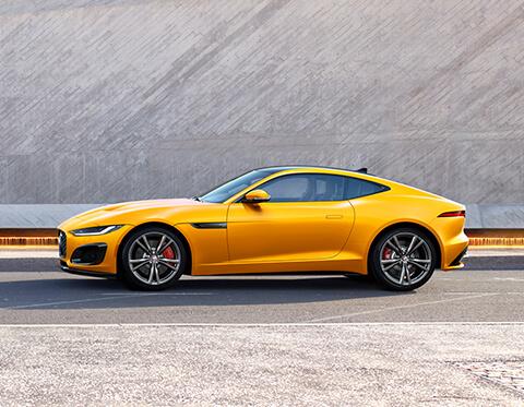 Yellow Jaguar F-Types